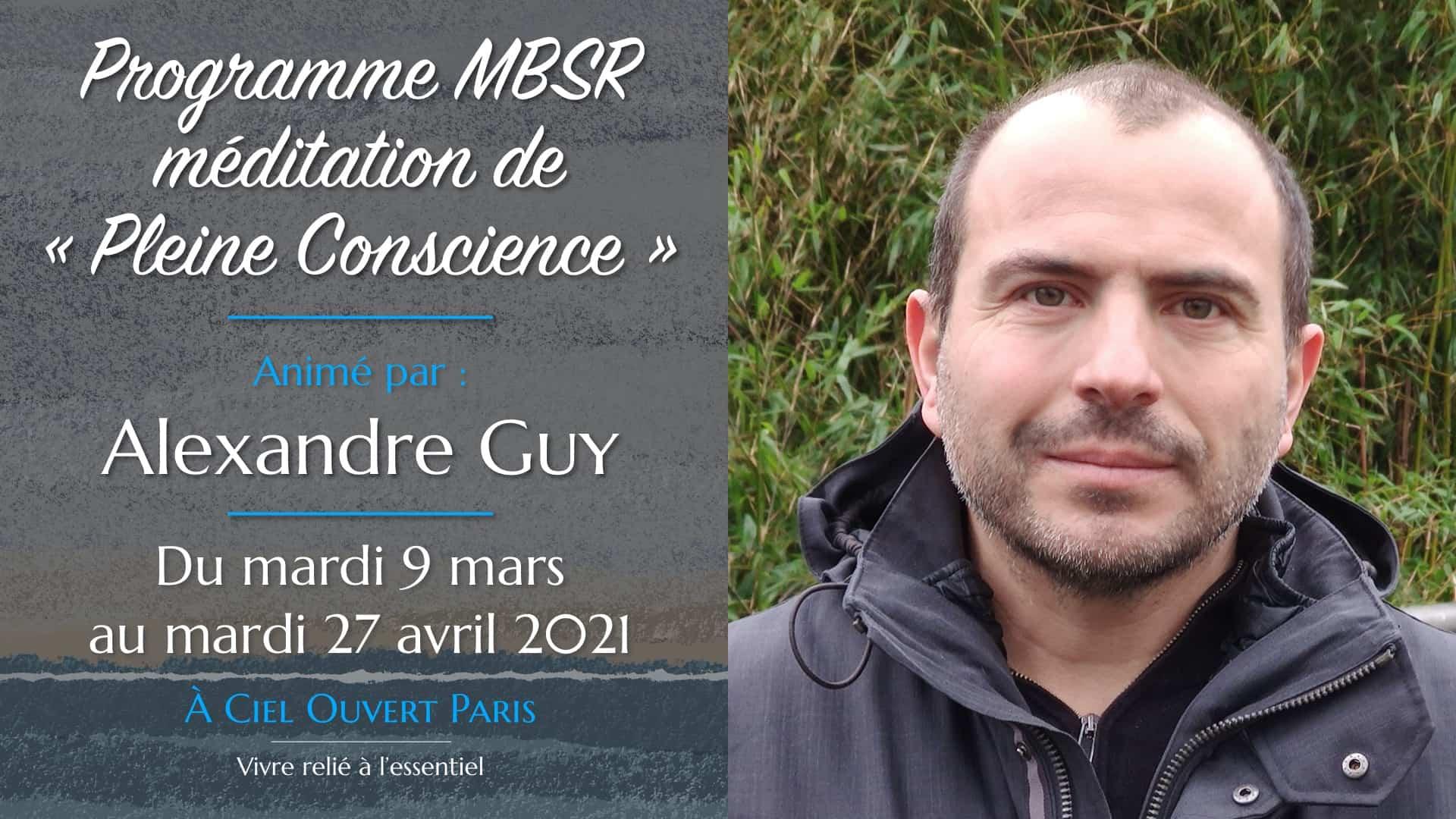 Programme MBSR – Alexandre Guy