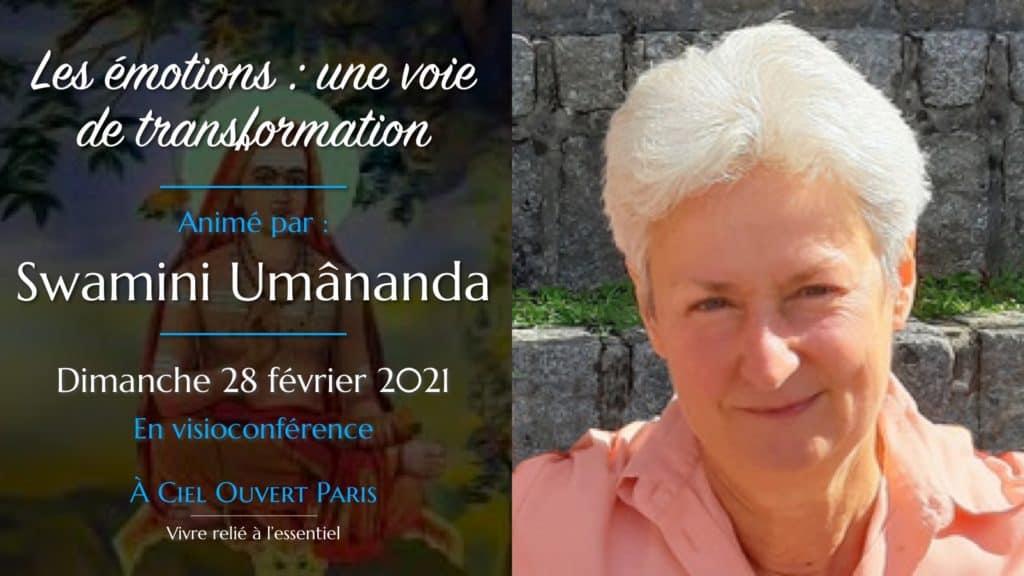 Les émotions : une voie de transformation – Swamini Umânanda