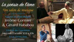 La poésie de l'âme – Concert Dhrupad – Jérôme Cormier & Gérard Hababou