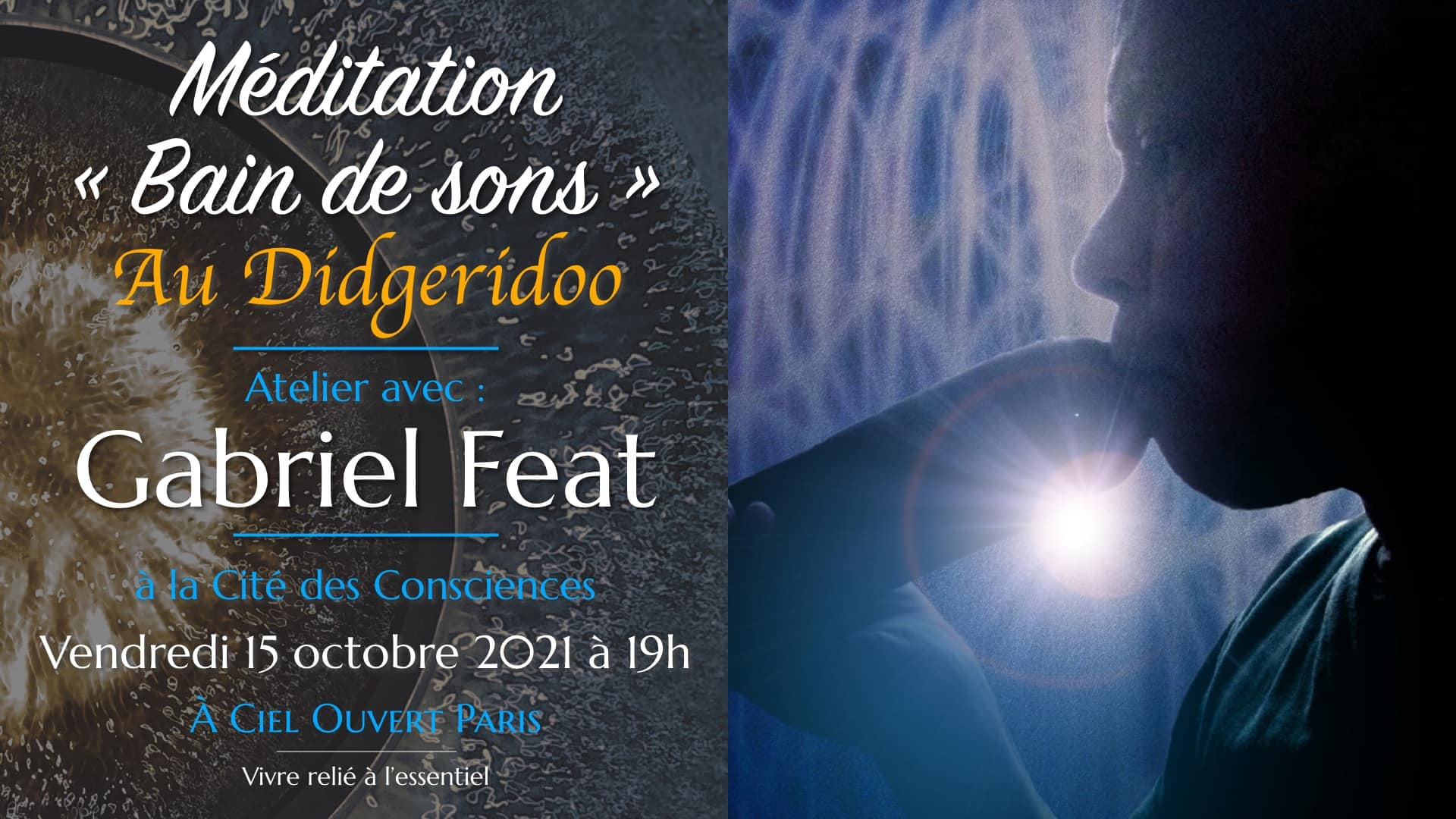 Méditation « Bain de sons » – Didgeridoo – Gabriel Feat